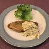 白身魚のフライタルタル添え