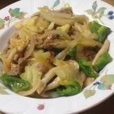 豚肉と野菜のピリ辛みそ炒め
