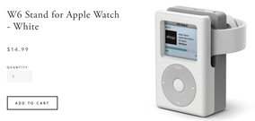 Apple WatchをiPod classicに見せる充電スタンド『W6 Stand for Apple Watch』
