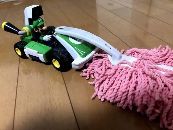 マリオカート ライブ ホームサーキット』にモップをつけて掃除してみた ...