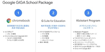Google、ChromebookとG Suite for Educationを中核に据えた「Google GIGA School Package」を発表
