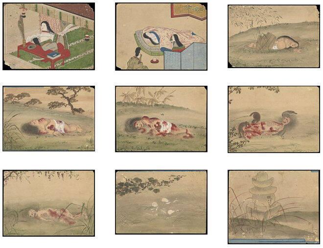 小野小町も死んだらドクロ。彼女の遺体が腐乱していく姿を描いた衝撃的 ...