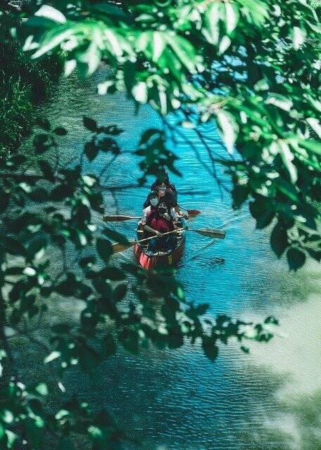 まるで日本のベネチア? 手漕ぎ舟がお堀を行き交う...滋賀・近江の風流すぎる光景が話題に