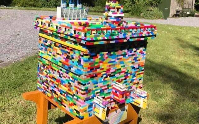 レゴブロックで蜂の巣を作成した男性、3万匹のミツバチが巣として利用(アイルランド)