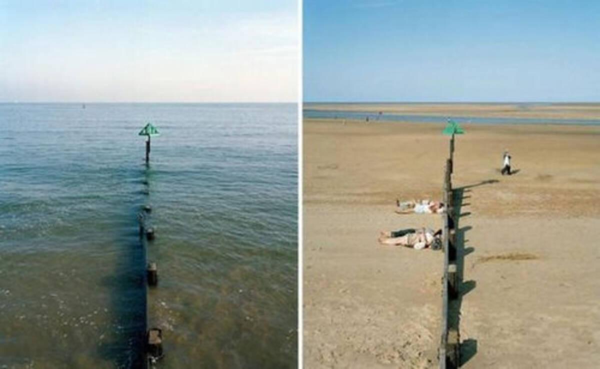 同じ場所とは思えない…干潮と満潮を比較した写真いろいろ (2013年1月11 ...