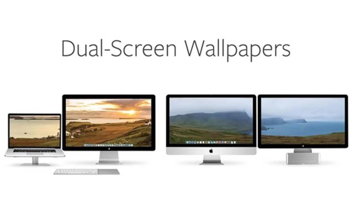 Macのデュアルディスプレイに対応した壁紙が手に入るサイト Dual