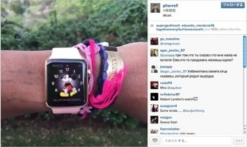 Pharrell Williams氏、Apple Watch Editionの動画をinstagramに投稿