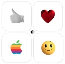 Apple、iOS 10用iMessageステッカーアプリ「Hands,Smileys,Classic Mac,Hearts」を配布開始