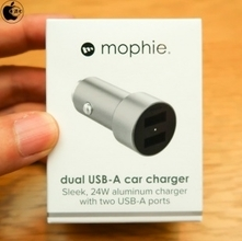 Apple Store、mophieのUSB-Aポートを2個搭載したカーチャージャー「mophie Dual USB-A Car Charger」を販売開始(Store限定)