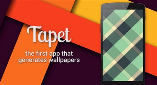 Tapet マテリアルデザインの壁紙を生成 ライブ壁紙じゃないので