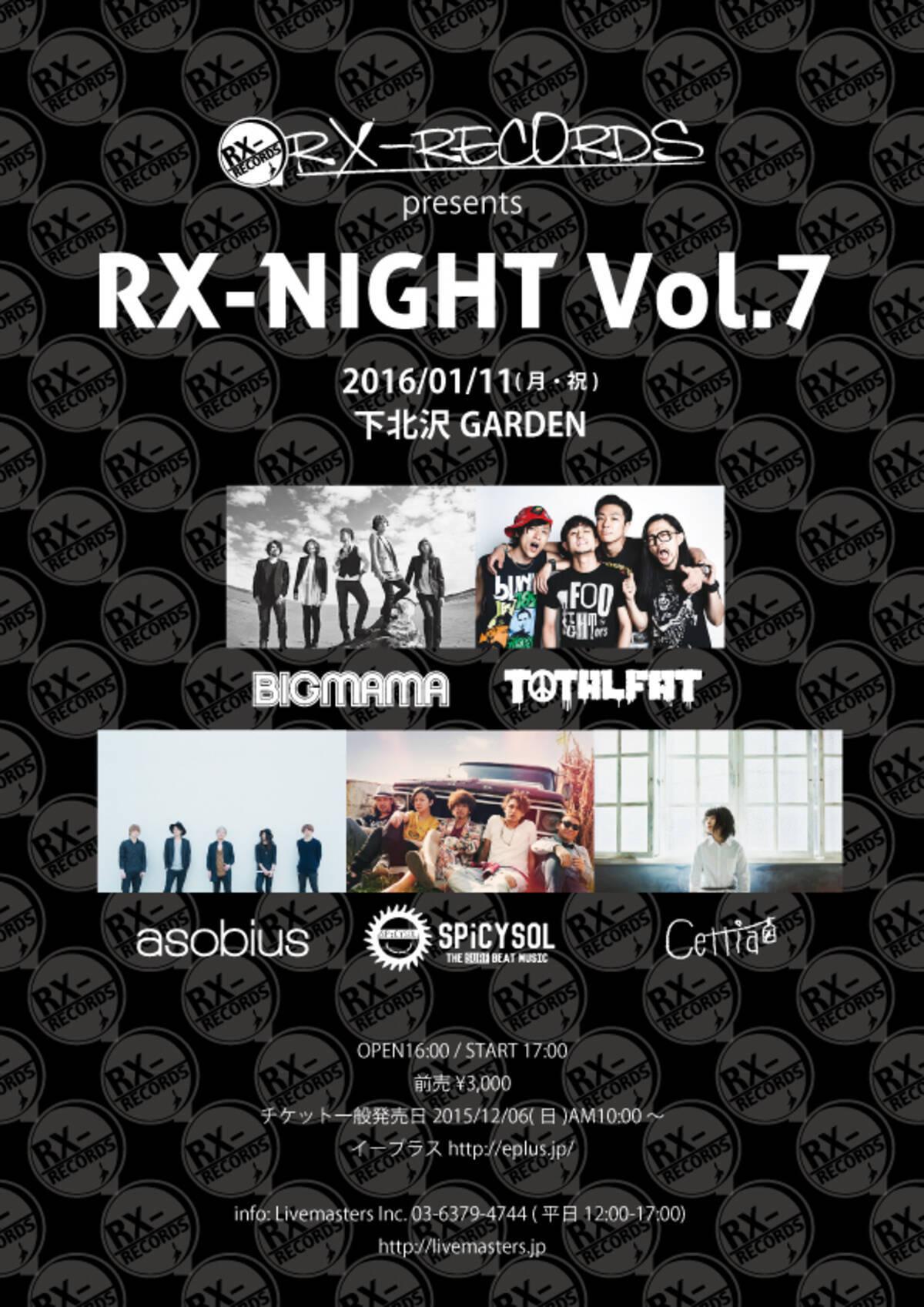 Totalfat Bigmamaらが出演 Rx Night Vol 7 が来年1月に開催決定 15年12月1日 エキサイトニュース