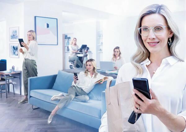 スマホライフのためのメガネレンズ 見え方と目の健康に配慮