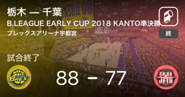 【B.LEAGUE EARLY CUP KANTO準決勝】栃木が千葉を破る