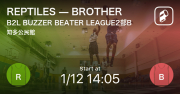 【B2L BUZZER BEATER LEAGUE2部B第1節】まもなく開始!REPTILESvsBROTHER