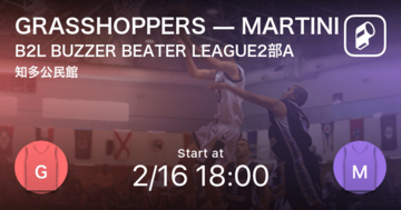 【B2L BUZZER BEATER LEAGUE2部A第1節】まもなく開始!GRASSHOPPERSvsMARTINI