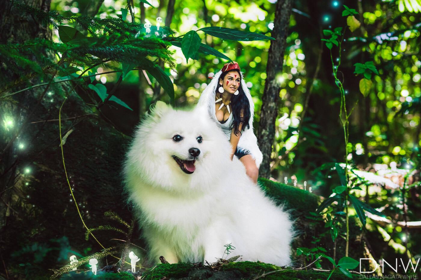 ハワイ在住アーティストの もののけ姫 コスプレ写真がレベル高っ