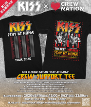KISS×CREW NATIONの『STAY AT HOME』Tシャツ、大反響につき第2回受注販売が決定!