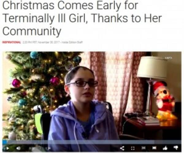 末期がん16歳少女のために、慈善団体と地域住民らが早めのクリスマス ...