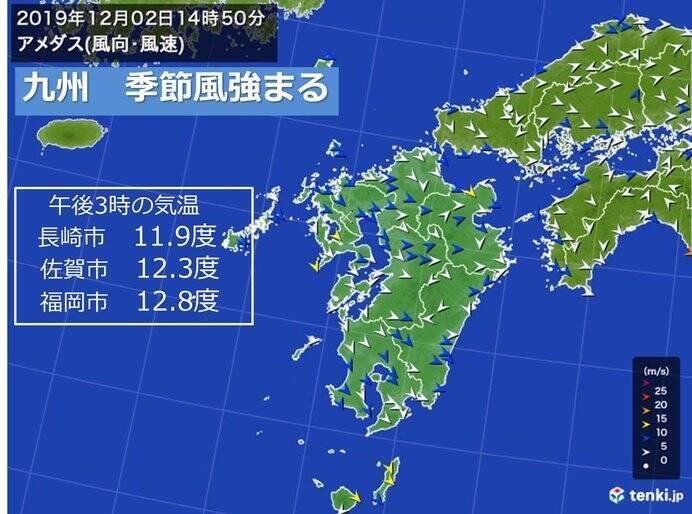 九州 季節風強まる 今週は低温傾向続く (2019年12月2日) - エキサイト ...