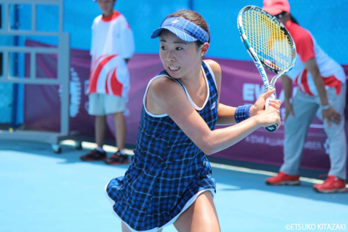 テニス競技が開幕、筑波大3年の...