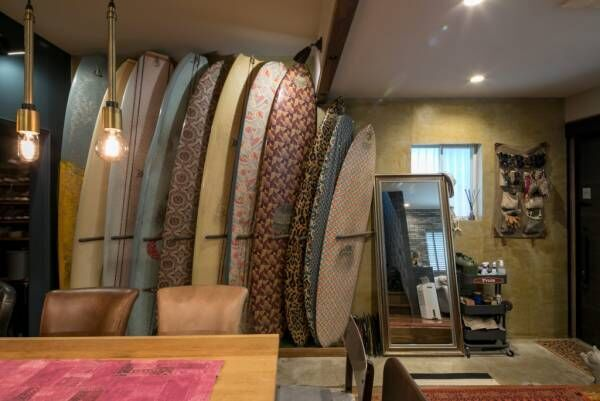 インテリアデザイナーの自邸 サーフィンを中心に考えた 鎌倉のリノベーション住宅