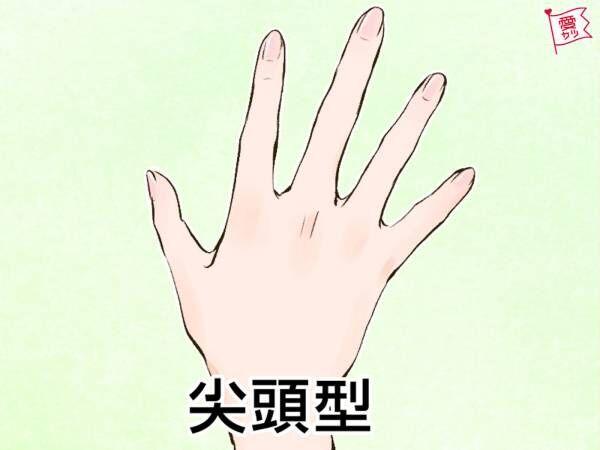 手相、細い指