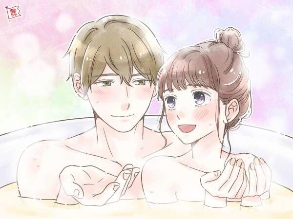 カップルのお風呂