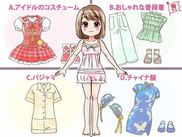 この人形に着せたい服はどれ?でわかる!あなたの恋愛傾向