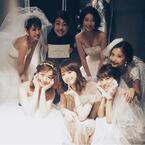 佐々木希とドレス集合写真『with Wedding Camp 2017』の舞台裏を公開