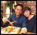 平愛梨、夫・長友とミラノで豪華ランチデート「食べる幸福!一緒に居る幸福!」
