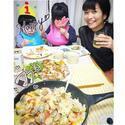 マナカナ三倉佳奈 茉奈の手作り料理で息子の誕生日を祝う