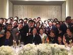 田中雅美、瀬戸大也選手の結婚披露宴での集合写真を公開「幸せをおすそ分けしてもらいました」