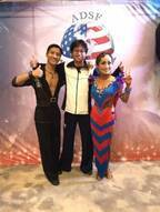キンタロー。  社交ダンス世界選手権の日本・アジア最高位に感謝
