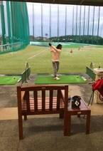 花田虎上、ゴルフをする娘を公開「体力は私に似たのかも」
