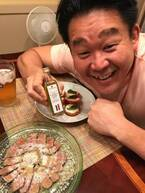 花田虎上、トリュフオイルを使った夕食に「レストランのよう」「お洒落すぎ」の声