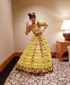 """高橋愛、ドレスに""""ツノヘアー""""の姿を公開「ホントにレア」「貴重」の声"""