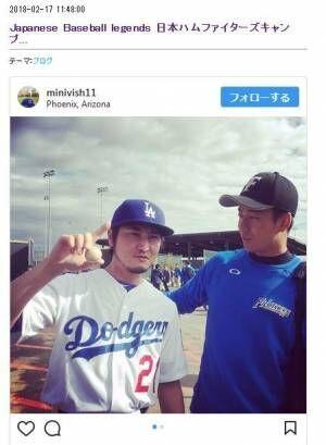 ダルビッシュ有そっくり芸人・ミニビッシュ、日ハム・斎藤佑樹とツーショット写真を公開