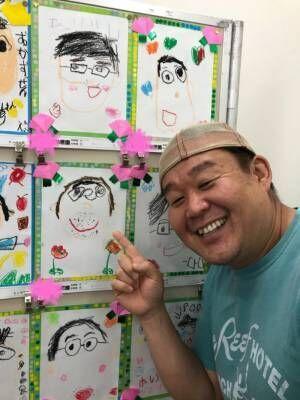 花田虎上、父の日を娘たちと満喫「4歳の娘が描いてくれた私です」