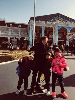 ダイアモンド☆ユカイ、妻の力を借りず3人の子どもとTDL「また一つ成長」