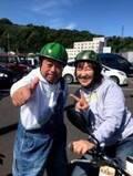 北斗晶、念願のスイカヘルメットで出川哲朗と2ショット