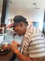 花田虎上、500gのステーキを8分で完食し「さすがです」「早い!」の声