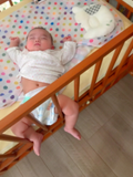 浜田ブリトニー、生後4ヶ月を迎えた娘の寝相にビックリ「とにかく元気に育ってくれた」