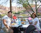 花田虎上、夏休みにロサンゼルスへ旅行「注文した妻がびっくり…」