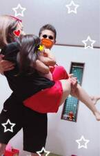 """後藤真希、夫が""""ダブルお姫様抱っこ""""で筋トレ「かなりパンプアップした様子」"""