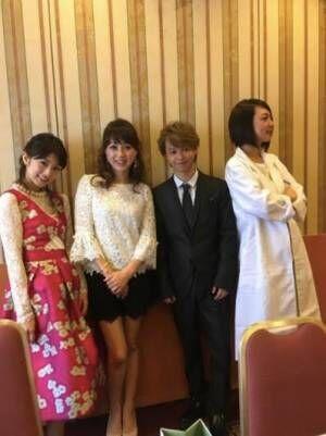 みかん 西川史子に扮し、小倉優子・渡辺美奈代らと4ショット