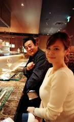 高橋英樹、娘・真麻とのボリュームたっぷりのディナーに「満腹、満腹!」