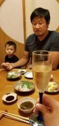 小原正子、夫・マック鈴木と7年前に初めて食事をしたお店へ「家族で来られるとは」