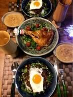 ニッチェ・江上、夫婦でクリスマスディナーのような朝食「すごいゴージャス」「愛だね」の声