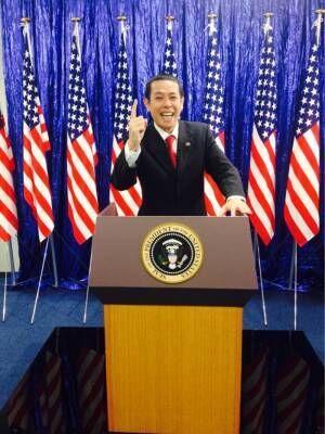 ノッチ、オバマ氏と再会 アピールしすぎてSPが迫る