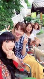 中川翔子、佐々木希らメンバーとの集合ショット「ずっと笑って喋って爆笑」